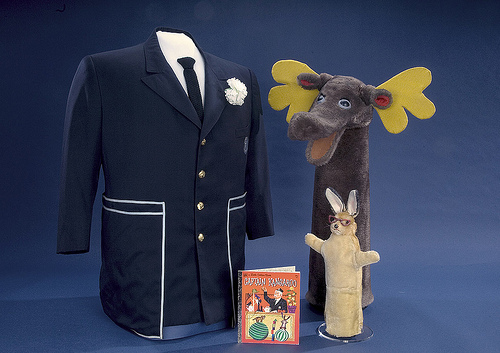 "The mischievous Bunny Rabbit and goofy Mr. Moose starred in the long-running children's television series ""Captain Kangaroo."" The show, created by Bob Keeshan, aimed to teach moral lessons to young viewers."