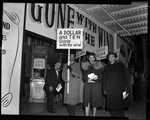 In this photo, protesters at a Washington, D.C., theater where the movie was playing. Scurlock Studio Records, ca. 1905-1994, Archives Center, National Museum of American History