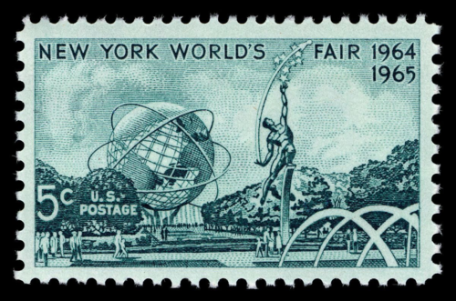An April 1964 postage stamp in the collection of the Smithsonian's National Postal Museum