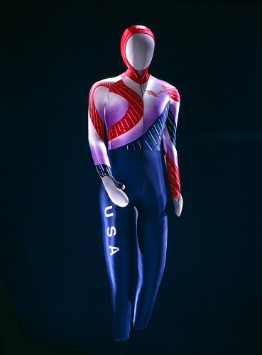 Mizuno speed skin worn by Bonnie Blair at the 1992 Albertville Winter Olympic Games