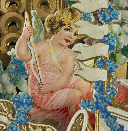 Detail of the beautiful, German-printed Valentine