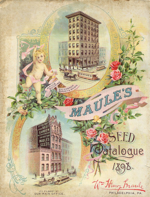 "An 1898 cover of ""Maule's Seed Catalogue"""