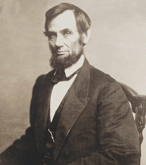 In this 1861 photo, Lincoln can be seen wearing his watch. He never knew that it carried a hidden message. Photo courtesy Library of Congress.