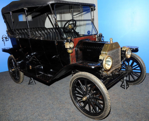 A 1913 Ford Model T in the museum's collection. This car was not part of a suffragist trip, but is typical of automobiles of the era.