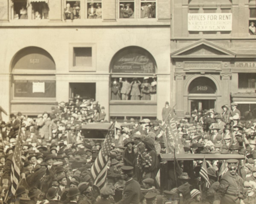 General Jones and Pilgrims participate in the National Woman Suffrage Parade, 1913. Courtesy of the Sewall-Belmont House & Museum, home of the historic National Woman's Party.