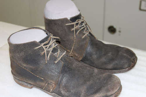 Boots worn by Morgan Freeman in the film