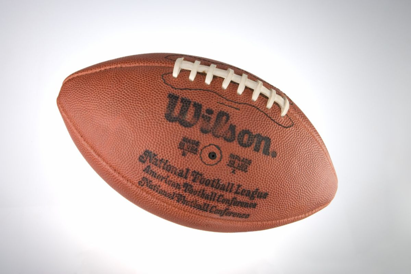 Football used in Super Bowl XIV, 1979, in the museum's collection. From the Pittsburgh Steelers Football Team through Daniel M. Rooney, President.