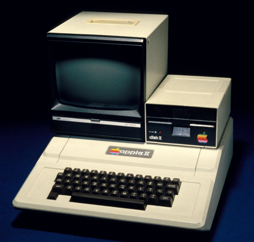 The rainbow logo is visible in this 1977 Apple II Personal Computer
