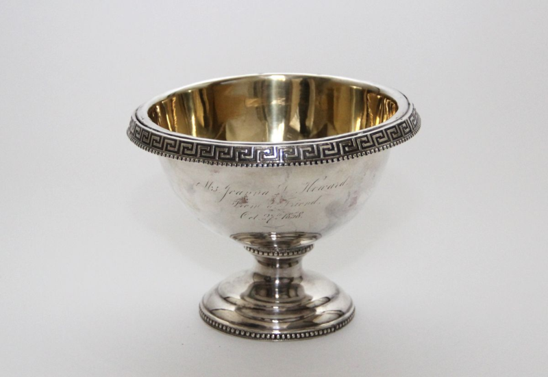 "This silver-plated waste bowl has a ""gold wash"" on its interior, an extremely thin gilding that is both a decorative and protective coating"