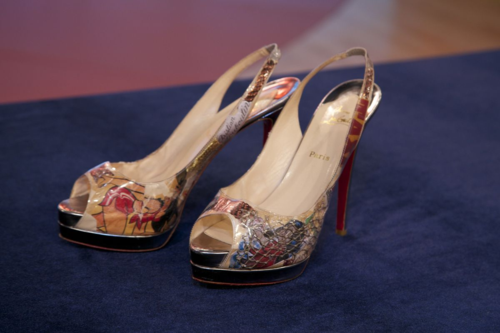 "Christian Louboutin heels worn by Wendy Williams in first promotional photo shoot for her talk show in April 2009. Courtesy ""The Wendy Williams Show""."