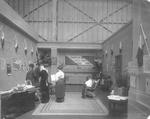 Congressional Union's booth at San Francisco Exposition. Courtesy of Sewall-Belmont House & Museum, home of the historic National Woman's Party.