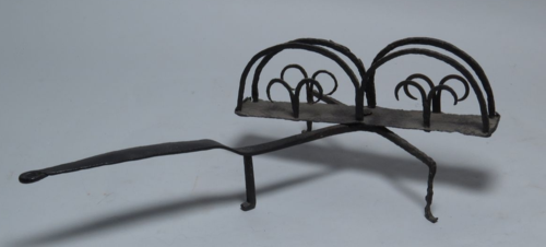 An 18th century iron toaster from Concord, Massachusetts