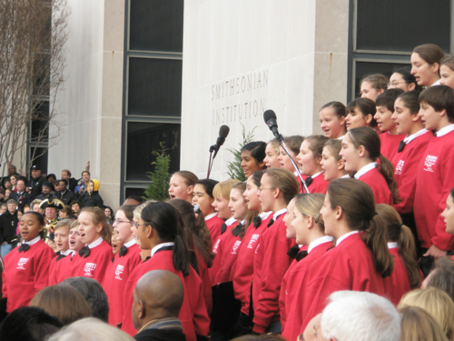The Children's Chorus of Washington sings at the museum