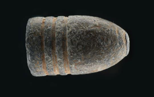 Minie ball, a type of rifle bullet from the Civil War