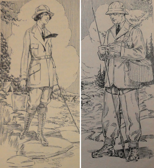 "A&F Catalog, 1922, Trade Literature Collection, National Museum of American History Library. While many early outdoor companies focused only on outdoorsmen, A&F sold sports clothes for both men and women for ""camping, hunting, fishing, and all outdoor sports."""