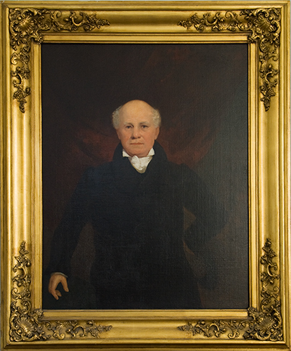 John Gadsby, painted by his grandson John Gadsby Chapman in 1840. Image from Gadsby's Tavern Museum, City of Alexandria, Virginia.