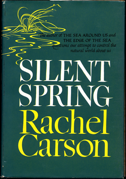 Rachel Carson's 1962 bestselling book warning of the dangers of the unrestricted use of chemical pesticides led to significant industry changes