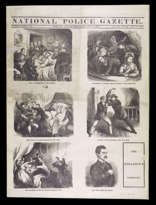 The National Police Gazette detailed the events of Lincoln's assassination, NMAH-2000-7931