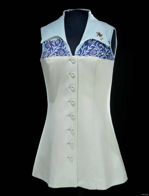 "Tennis Dress, worn by Bille Jean King during the ""Battle of the Sexes"""