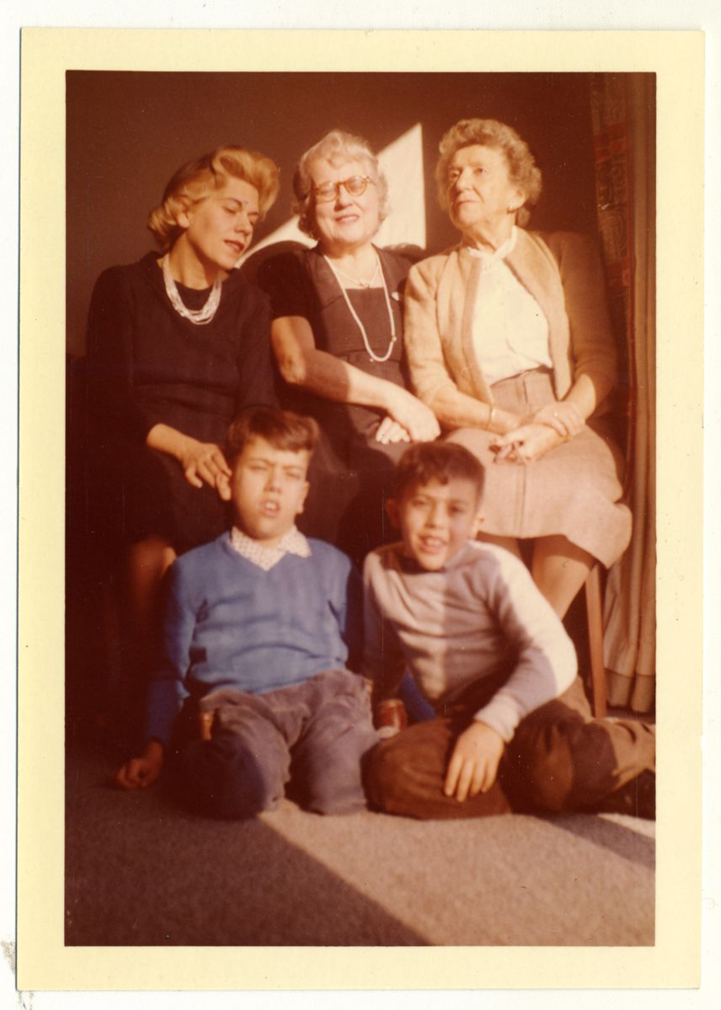 Camilla Gottlieb, center, with her family.
