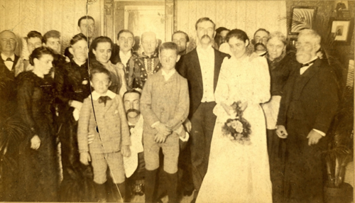 Doug Stiles' ancestor Jonathan Dillon, far right, attends the wedding of James Stiles, Sr. and Isabelle Dillon on August 11, 1891. Photo courtesy the David Stiles family.