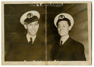 Billy (left) and Howard in unidentified uniform, circa 1942.