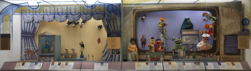 "The ""Puppetry in America"" display"
