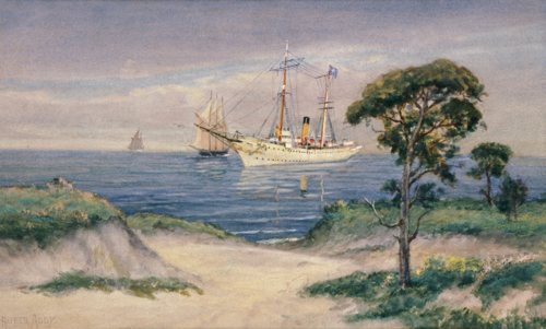 The Presidential Yacht Mayflower by Alfred Addy, Courtesy of The White House Historical Association (White House Collection)