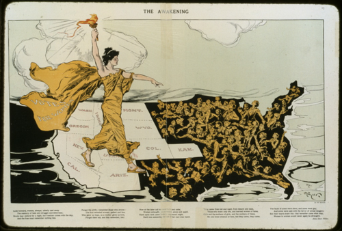 The Awakening by Henry Mayer, Published in Puck Publishing Corp, 1915. Courtesy of Library of Congress, Prints & Photographs Division [LC-USZC2-1206]
