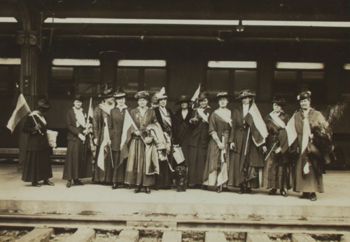The Suffrage Special train tour returning to D.C., 1916. Courtesy of the Sewall-Belmont House & Museum, home of the historic National Woman's Party.