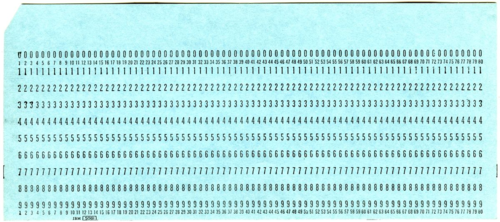 Punch Card Like that Used on the IBM System/360. Smithsonian Image AHB2014q009003.