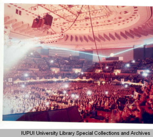 The 1993 National FFA Convention in Kansas City, Missouri. Ruth Lilly Special Collections and Archives, Indiana University-Purdue University Indianapolis.
