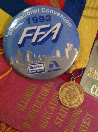 Some of Brett's FFA awards and memorabilia