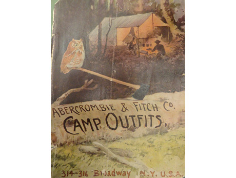 A&F catalog, Warshaw Collection of Business Americana, housed in the Archives Center at the National Museum of American History. The museum's collection of old A&F catalogs illustrates the surprising origins of the company as an outdoor outfitter.