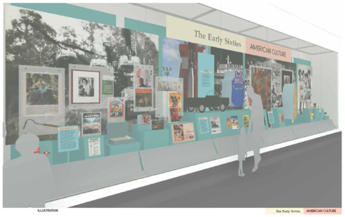 The design scheme for the current display on early 1960s American Culture