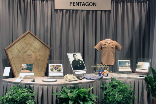 Objects from the Pentagon in the September 11: Remembrance and Reflection exhibit