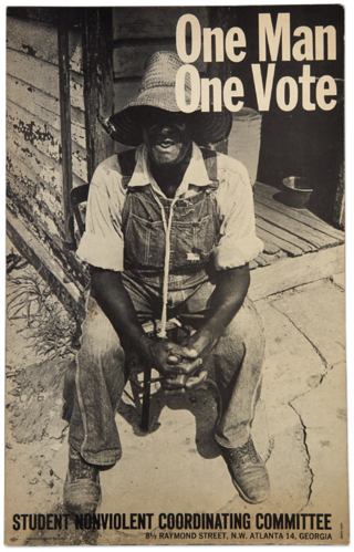 Student Nonviolent Coordinating Committee poster, about 1963