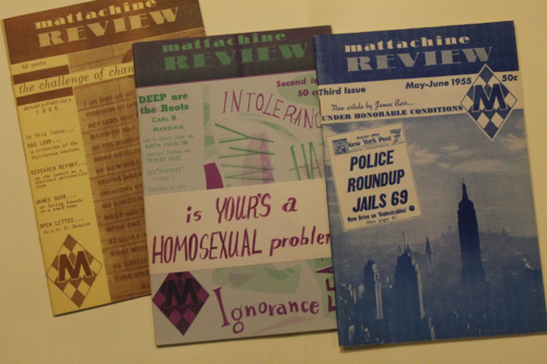 <i>The Mattachine Review</i>, published in Los Angeles by the Mattachine Society, grew out of the homophile movement. LGBT communities became more numerous, political, and open in the mid-twentieth century. This homophile movement became the Gay Liberation Movement of the 1970s.