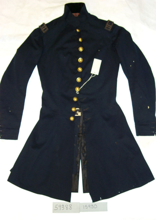 The U.S. Army General Staff frock coat, Model 1832, which Sherman wore to his wedding