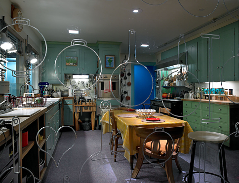 Julia Child's home kitchen, with its hundreds of tools, appliances, and furnishings serves as the opening story of the museum's first major exhibition on food history
