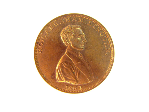 This presidential campaign medal was made by the Scovill Manufacturing Company of Waterbury, Connecticut around 1860. NMAH-AHB2010q16139