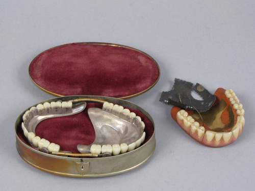 Dentures from the mid-1800s in the museum's collection