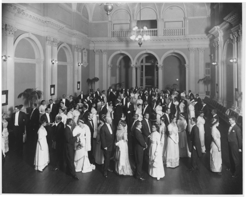 "The Mid-Winter Assembly, Baltimore, Maryland [often misidentified as ""Formal Dance at the Whitelaw Hotel""] [paper photoprint,] 1912. 618ps0237203-01sc"