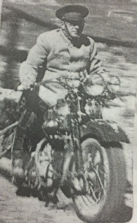"As president of Guatemala, Jorge Ubico repressed democratic practice and political dissent. His pro-U.S. economic policy worsened the plight of the middle and lower classes, while his labor laws (designed to facilitate the development of public works, like roads) utilized indigenous labor. The image of Ubico atop his motorcycle, shown here, reveals the reality of justice under his rule: ""the president might appear suddenly, almost out of nowhere, on his fancy, powerful machine to render judgment"". (Quote is from ""I Ask for Justice: Maya Women, Dictators, and Crime in Guatemala, 1898-1944"" by David Carey.) Image courtesy of Alvaro Aparicio."