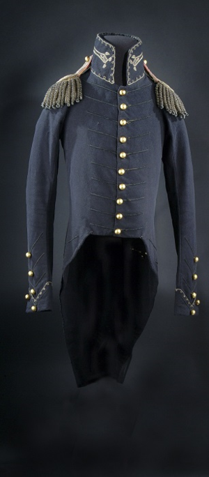 Andrew Jackson wore this uniform coat at the Battle of New Orleans, January 8, 1815