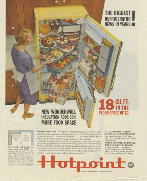 "Detail from a 1960 Hotpoint advertisement, from the ""Object Project"" teaching collection"