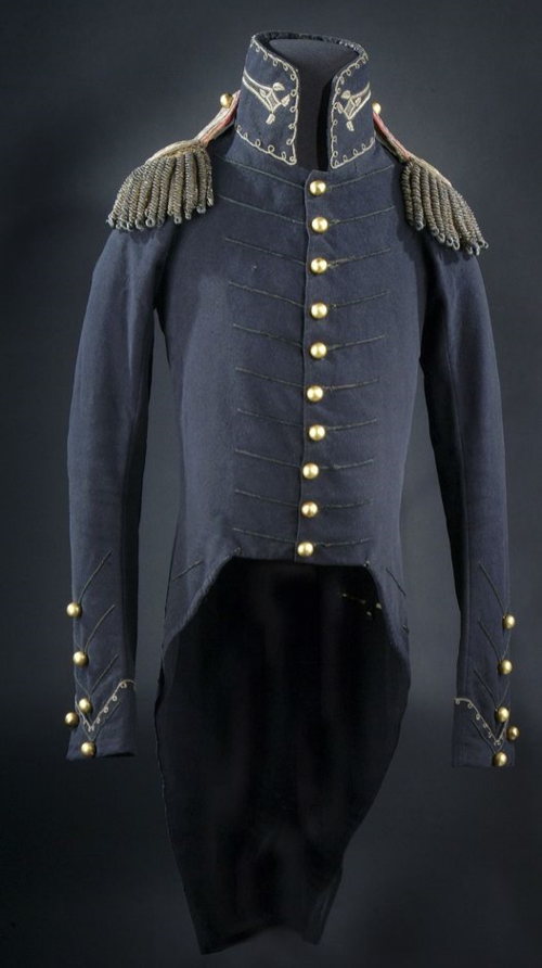 Andrew Jackson's uniform coat with epaulets from the Battle of New Orleans