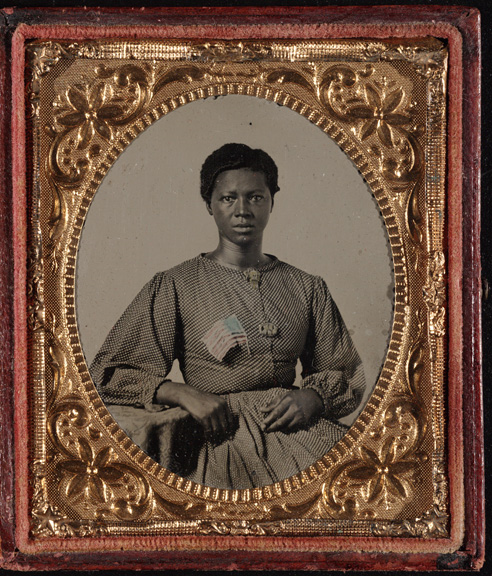 Ambrotype of the washerwoman for the Union Army