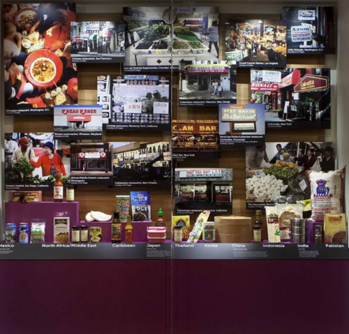 "Food on display in ""FOOD: Transforming the American Table 1950-2000"""