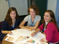 Interns Lara Billet, Katie Munn, and Katie March